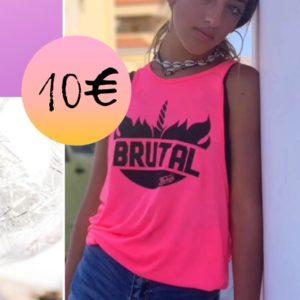 camiseta rosa brutal